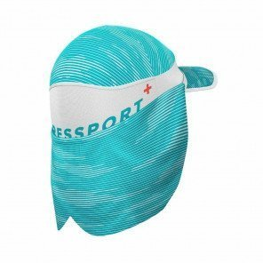 COMPRESSPORT Casquette ICE CAP SUN SHADE | Blanc/Bleu