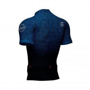 COMPRESSPORT Tee-shirt manche courte TRAIL POSTURAL SS TOP Homme   Bleu mélange